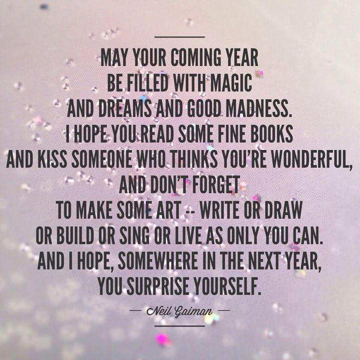 Happy New Year Neil Gaiman Quote Photo By Amanda Hobbs Happy