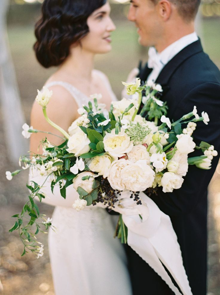Art Deco Bridal Bouquet ~ Katie Grant Photography