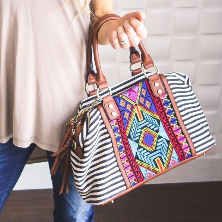 Aztec Embroidered Purse. Buy now.  Crossbody bad. Embroidered purse. Striped bag. Aztec  purse.  https://shopavenuebe.com/collections/accesssories/products/aztec-embroidered-purse