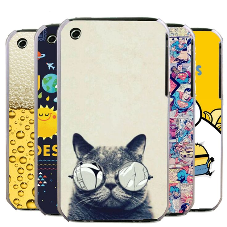 New 2015 Fashion Colorful Painting Hard PC Plastic Cell Phone Case For Apple iPhone 3 3G 3GS Shell Back Cover+Gift