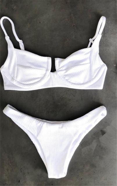 Bikini 2018 Buttons Bademode Damen Biquini Bikinis Damen Badeanzüge Badeanzug Biquinis Maillot De Bain Femme   – Products
