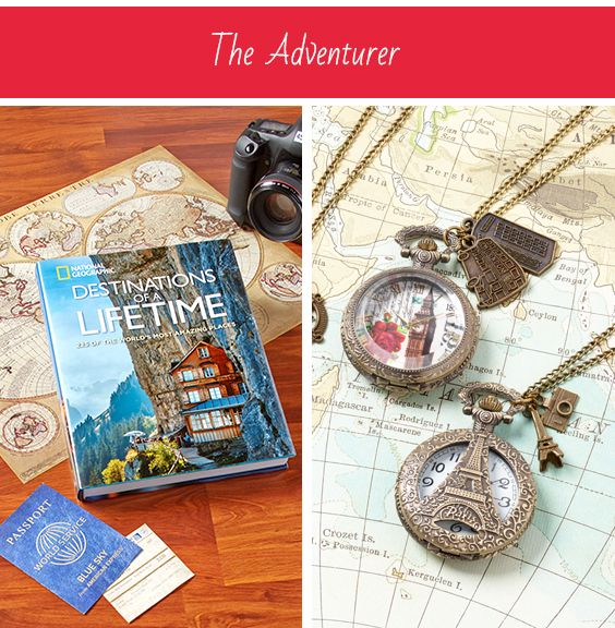 Meet The Adventurer: Always looking for an adventure, whether at home or abroad. They've traveled the world and explored every activity in their home town! Adventure awaits, it's just around the corner. Download the My Perfect Present app from the App Store or Google Play to find unique gifts for all the important people in your life, including The Adventurer.