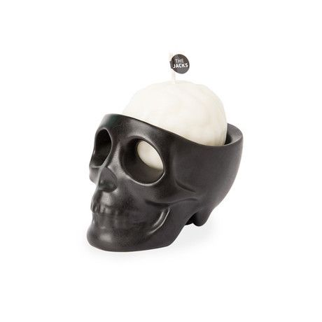 This creepy and decorative brain-shaped candle comes with a ceramic skull holder and works as an air freshener while adding charm and style to any office or living space.