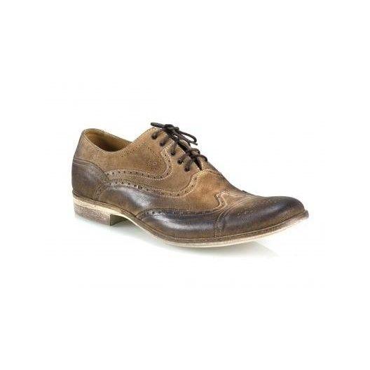 Pánske kožené topánky hnedé PT014 - manozo.hu