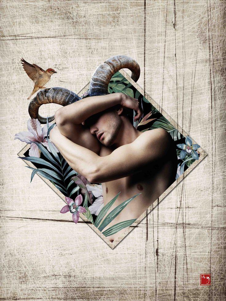 Pan God of the wild Art Poster Mythology #nymphographie #art #artwork #god #pan #greek #mythology #man #wild #nature
