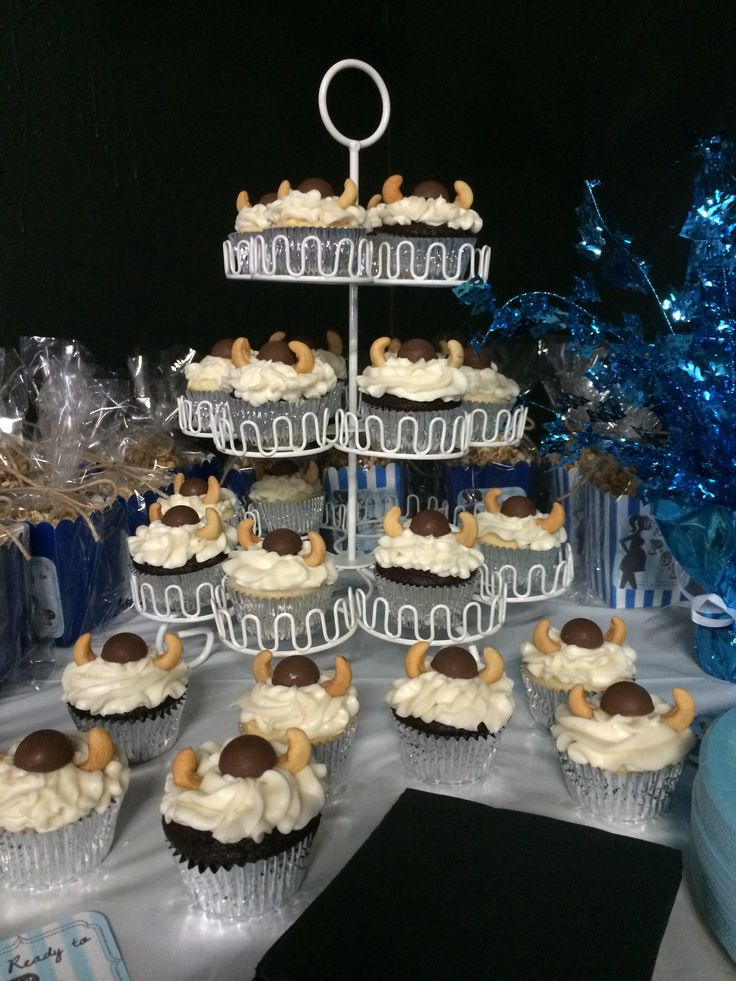 Viking Baby Bedroom: Cupcake Stand For Viking Themed Baby Shower