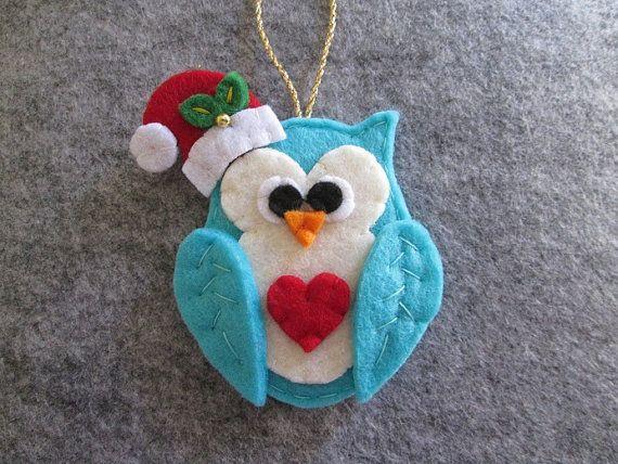 Felt Christmas Ornament Christmas Ornament by TinyFeltHeart