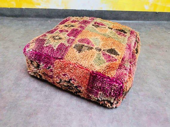 Kilim pouf armchair sofa pillow Moroccan Floor cushion Handmade from Boujad rug Berber Moroccan Floor cushion Seat cushion