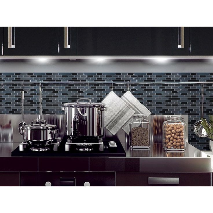 Peel And Stick Backsplash. Effect, Easy To Install Just Peel And Stick Wall  Tiles.