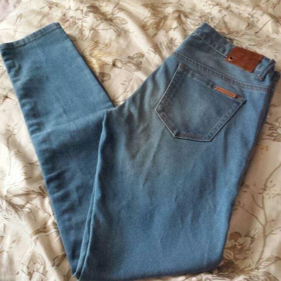 Brand new armani exchange light blue stretch denim armani exchange nwt light blue stretch denim leggings. size 4 super skinny leg A/X Armani Exchange Jeans