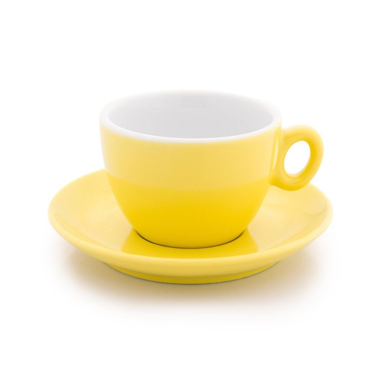 Inker yellow cappuccino cup 6 oz demitasse