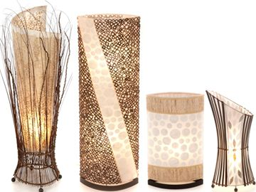 Handcrafted using delicate shell, this gorgeous range of table & floor lamps has some stunning pieces.  When you see these lamps 'in the flesh' you're struck by the meticulous workmanship and their exquisite beauty and individuality.