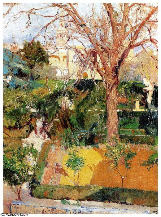 17 best images about joaquin sorolla y bastida paintings for Jardines del alcazar sevilla