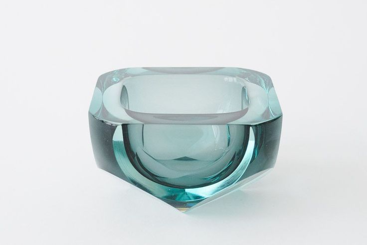 Faceted Glass Bowl / Ash Tray