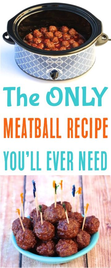 Crock Pot Grape Jelly Meatballs - just 3 ingredients and perfect for parties!