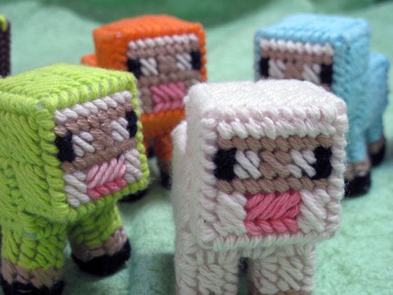 Minecraft Baby Sheep by SweetRiffs on Etsy, $12.00 (I want ...