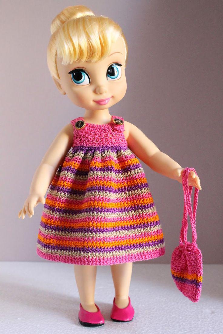 479 best Crochet Doll Clothes #2 images on Pinterest | Häkelpuppen ...