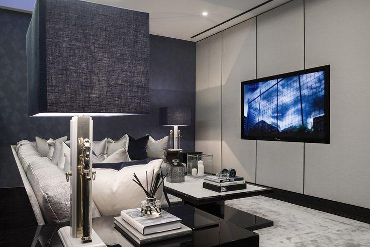 contemporary luxurious home cinema | media room || Reeves MewsMayfairW1 - Fenton Whelan - Fenton Whelan