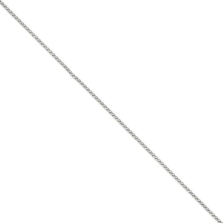 14k Gold White Gold 1.9mm Round D//C Wheat Chain 9 Inches