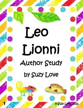 Leo Lionni Author Study-to purchase but great pre writing activities