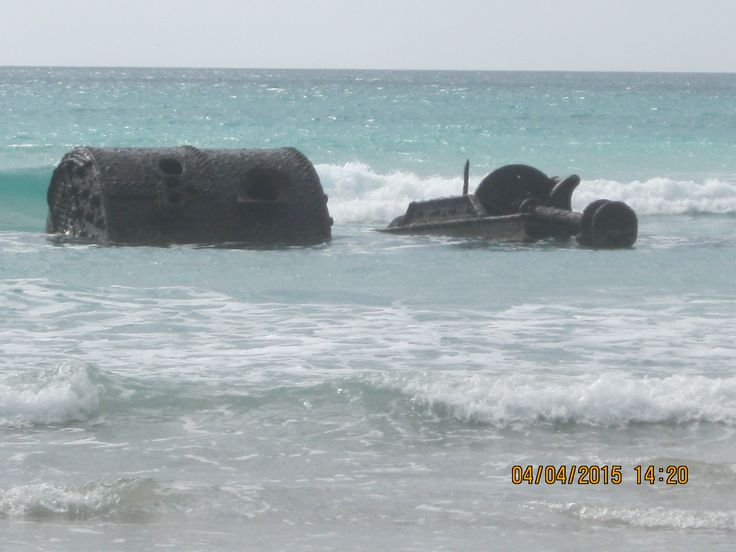 "All that remains of the ""Shannon"", one of the many shipwrecks around the Island. This one at Yellow Rock Beach."
