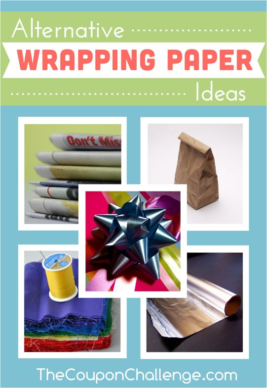 Alternative Wrapping Paper Ideas - use common household items to wrap gifts.  Be creative and save money!