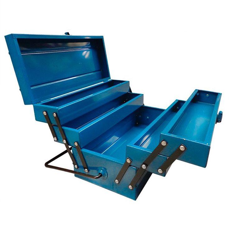 Caja De Herramientas Metalica Reforzada Nª8 Fuelle Doble . - $ 529,80 en MercadoLibre