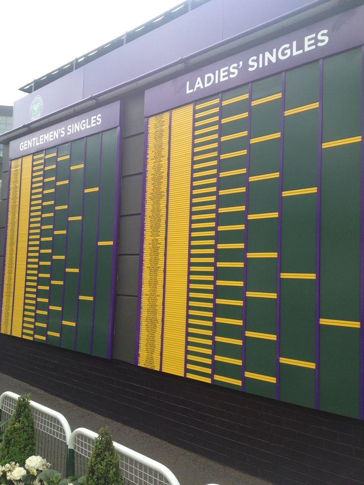 2013 Wimbledon Schedule of play