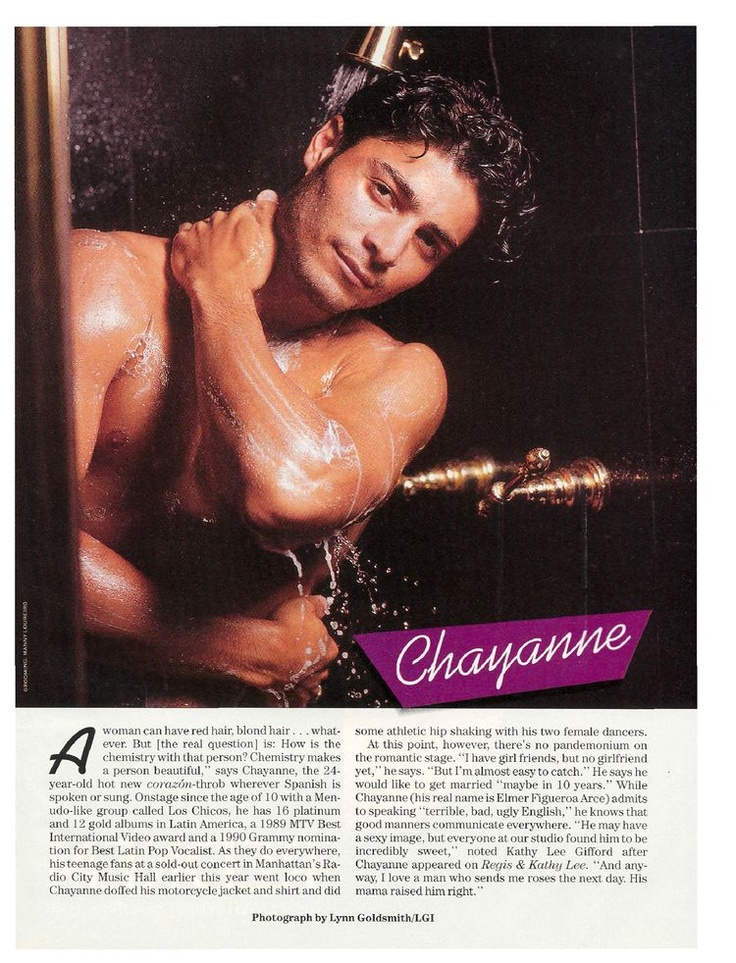 Hubba hubba!!!! Chayanne, 24 yr. old new model.