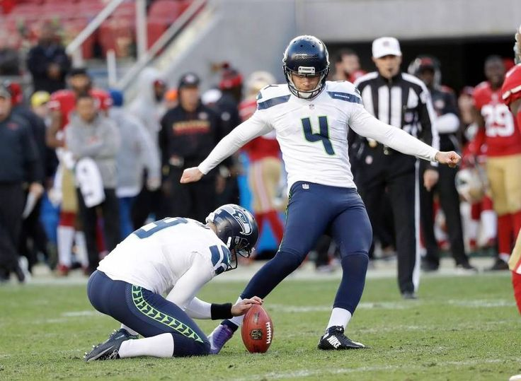 Seattle Seahawks kicker Steven Hauschka (4) kicks a field goal during the second half of an NFL football game against the San Francisco 49ers in Santa Clara, Calif., Sunday, Jan. 1, 2017.