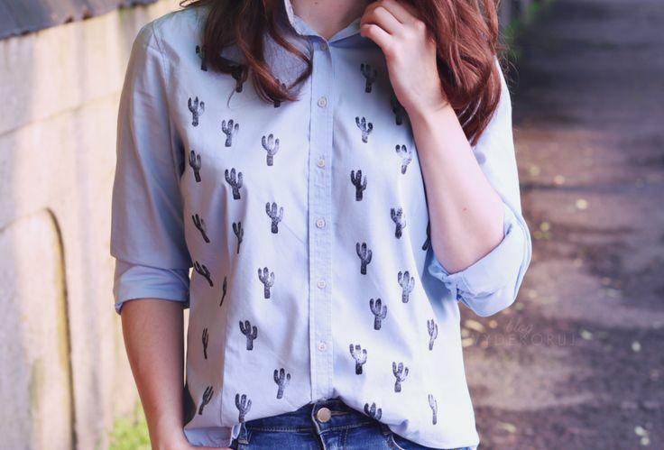 Koszula w kaktusy DIY