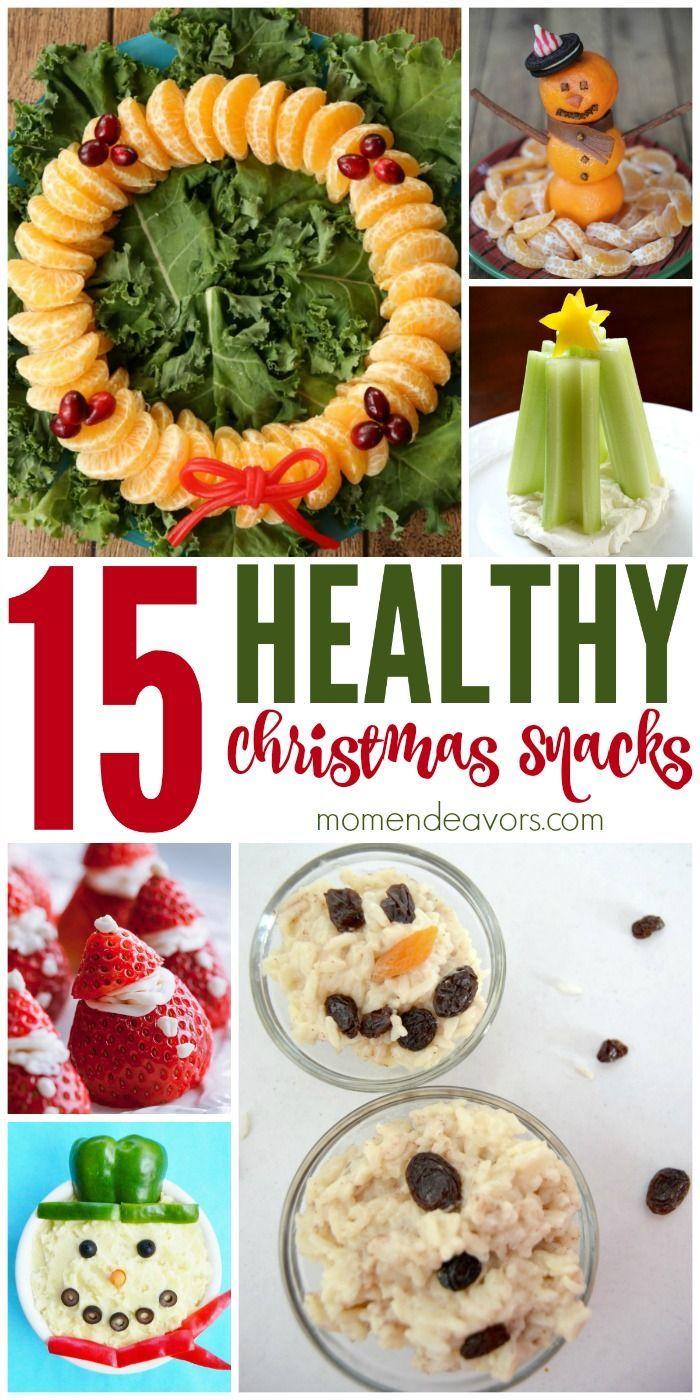 15+ Healthy Christmas Snacks, including fun snowmen