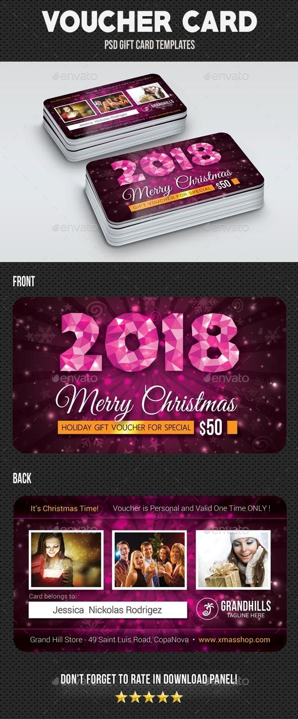 Christmas Voucher Card 3 - Cards & Invites Print Templates