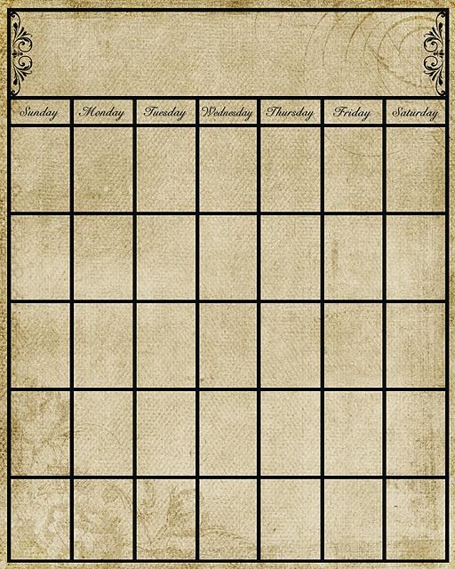 Blank Calendar Stamp : Vintage esque calendar download temp stamp a
