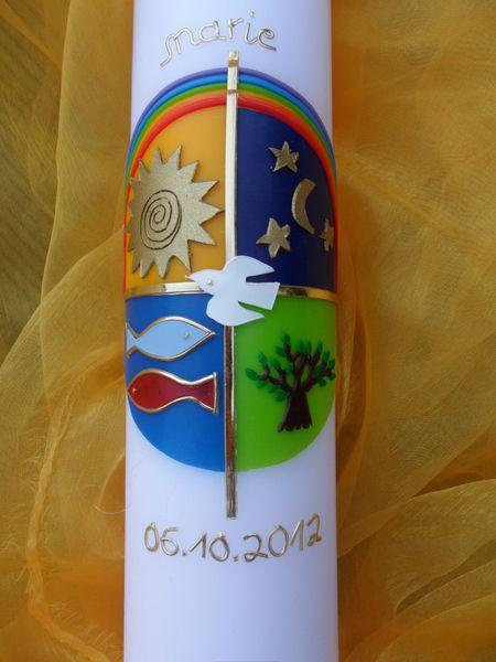 Taufkerzen - Taufkerze Elemente - ein Designerstück von spessart-licht bei DaWanda