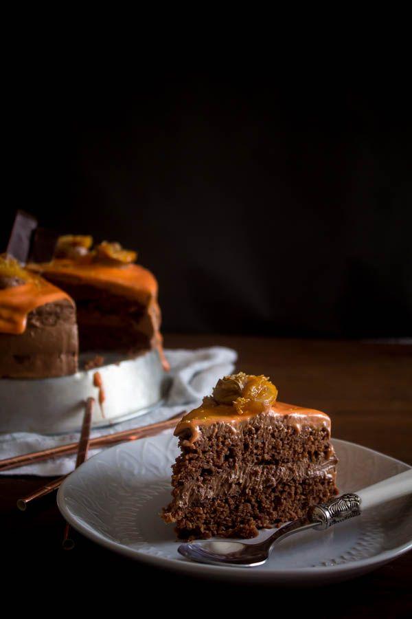 Τούρτα σοκολάτα πορτοκάλι - Myblissfood.gr