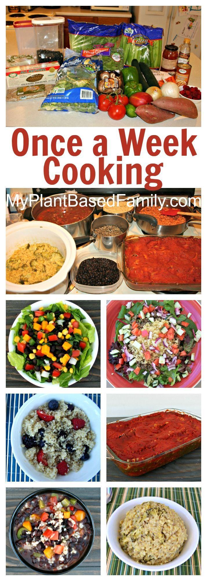 133 best organizing meals images on pinterest vegan food vegan once a week cooking forumfinder Images