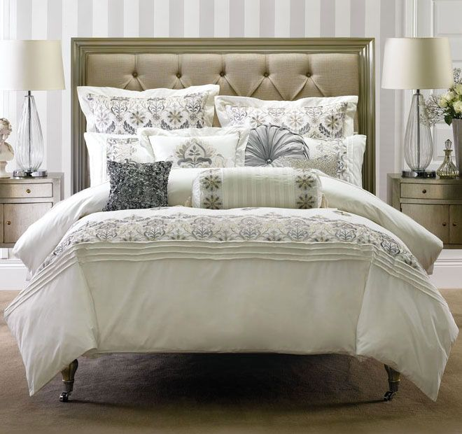 Linen House Classic Arya Quilt Cover Range Antique White