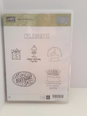Stampin-Up-Best-of-Birthdays-6-Rubber-Mounted-Wood-Stamp-Retired-Celebrate