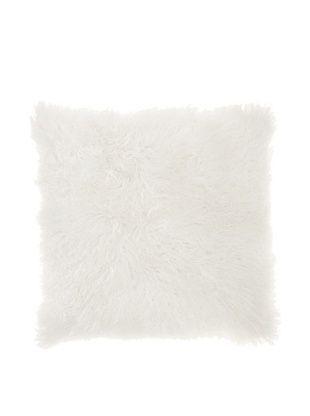 Belle Epoque Mongolian Lamb Euro Pillow (White)