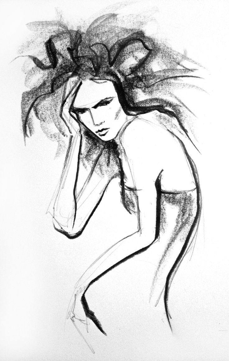 fashion illustration by Lara Wolf #graphite #fashion #illustration