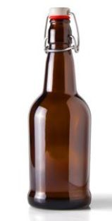 600001 - 16 oz Round Glass Amber Beer Bottle Beer bottle sold by Packaging Options Direct