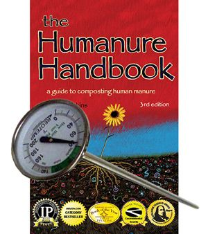 Humanure Handbook with Compost Thermometer
