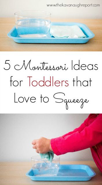 5 Montessori Ideas for Toddlers that Love to Squeeze