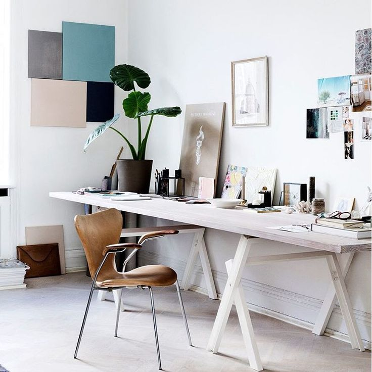 The office of Danish stylist Natalia Sánchez in Danish Elle Decoration a while back - stunning with our Kubus 4 on the table.  #bylassen #mogenslassen #bylassenkubus #kubus #elledecoration #elledk