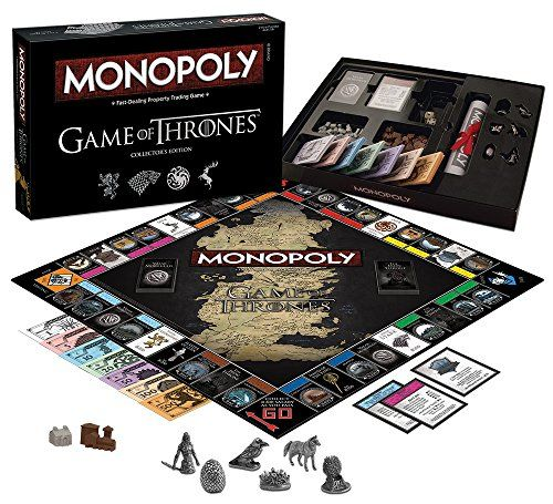 Game of Thrones Collector's Edition of MONOPOLY – Featuring infamous locations from the original dramatic television series. Buy, sell and trade your way to the Iron Throne.