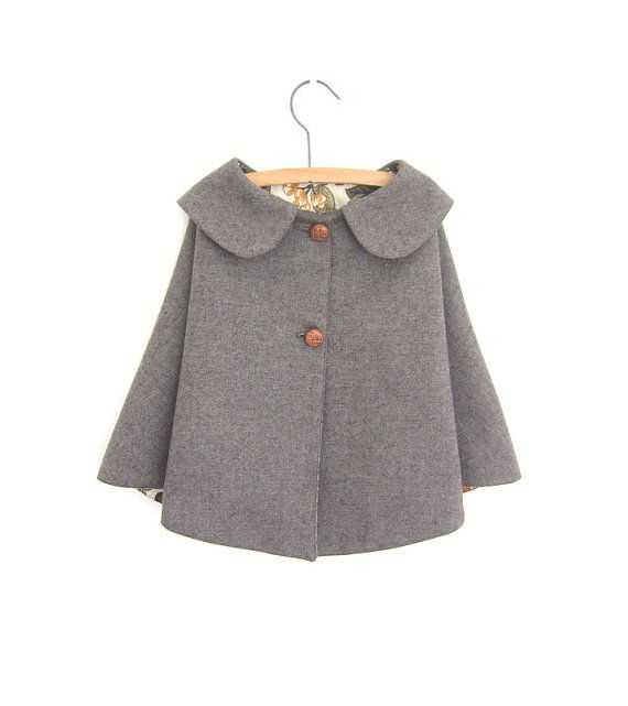 Wool Cape  vintage style by OneMe on Etsy, $50.00