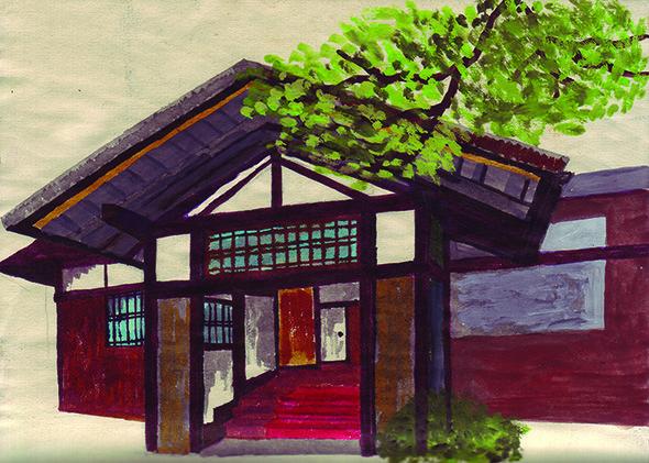 Hand painted illustration by Narumi Otobe