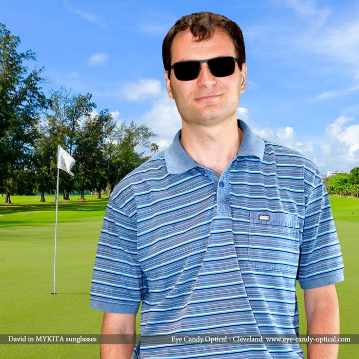 David is a confident golfer in his new designer sunglasses by Mykita! Eye Candy – Golf and look like no other with the Finest European Eyewear Fashion! Eye Candy Optical Cleveland – The Best Glasses Store! (440) 250-9191 - Book an Eye Exam Online or Over the Phone  www.eye-candy-optical.com www.eye-candy-optical.com/Contact/sign_up - Join our mailing list