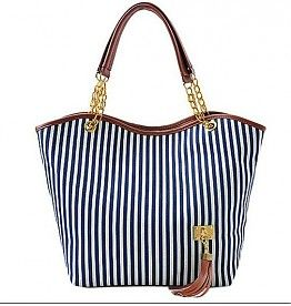 "Handtas canvas shoppingbag ""Stripes"""
